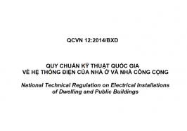 Quy chuẩn QCVN 12:2014/BXD cho hệ thống điện