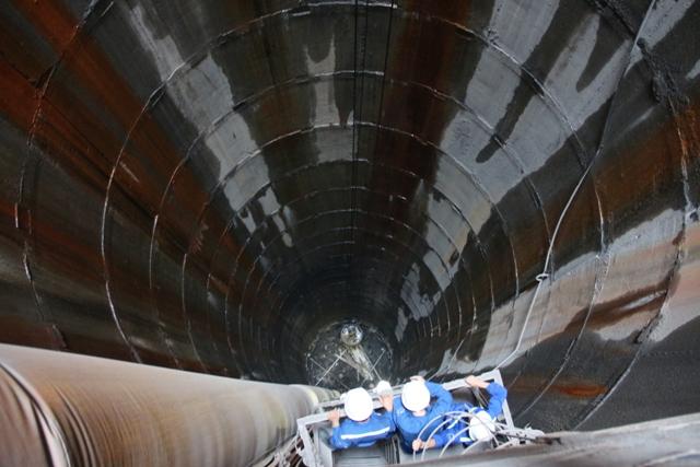 Dự án tại giếng đứng Khe Chàm II-IV