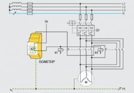 Rơ le giám sát, bảo vệ cách điện động cơ trung, hạ thế Offline (trước khi đóng điện)